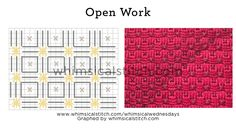 Open Work example from August 19 whimsicalstitch.com/whimsicalwednesdays blog post.