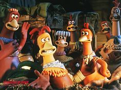 Inside the making of stop-motion animated classic 'Chicken Run', still the highest-grossing stop-motion film of all time. From the original pitch meeting with Steven Spielberg, to having over 200 animators simultaneously working on 30 different sets Chicken Run Movie, Chicken Runs, Clay Animation, Animation Film, Animation Character, Nick Park, Movie Taglines, Peter Lord, Julia Sawalha