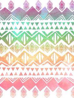 Rainbow Aztec wallpaper