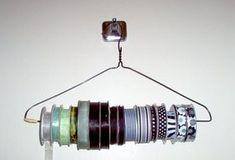 wire hanger ribbon storage