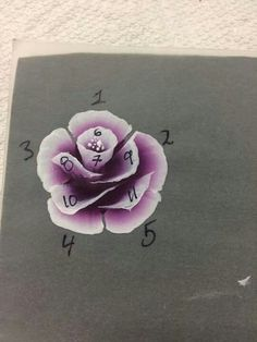 Rose Nail Art, Flower Nail Art, Rose Art, Flowers Illustration, Rose Step By Step, Donna Dewberry Painting, One Stroke Nails, Step By Step Painting, Drawing Step