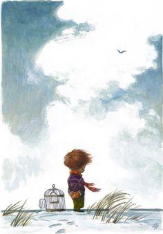 (via Pinzellades al món: Vola, vola en llibertat / Vuela, vuela en libertad / Fly, fly in freedom)