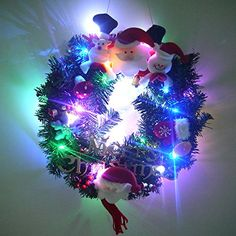 RJC Christmas Wreath with Copper Led Lights 12inches ** See this great product.