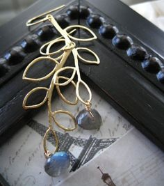 Branche d'or  Golden branch by amitiedesigns on Etsy, $24.50