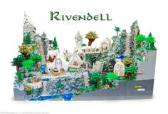Rivendell constructed from 50,000 legos.
