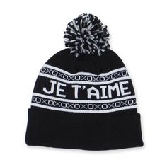 Je T'aime Beanie Black by Whistle & Flute.