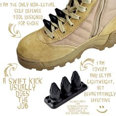 Tactical Shoe Spikes I WANT EVERYTHING ON THIS WEBSITE! #survivalgear
