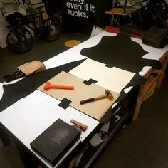 That feeling when your cutting table can handle a 30sqft+ side.  #leather #leatherwork #vancouver #yvr #wabisabi #everydaycarry #softgoods #fashion #inspiration #workshop #leatherbag #handmade #handbag #purse #clutch #wallet #bespoke...