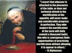 St Alphonsus on fasting www.religiousbookshelf.org