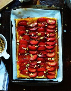 @Army Wife to Suburban Life's Sweet Plum Almond Tart recipe looks to be a fabulous summer dessert!