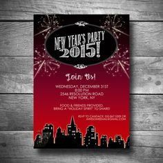 New Year's Invitation New Year's Eve Party by BigDawgDesigns