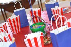 Popcorn ,Peanuts, Goodie bags