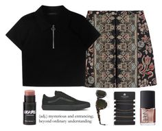 """""""Trade Mistakes // Panic! At The Disco"""" by luciamenesess ❤ liked on Polyvore featuring Valentino, NARS Cosmetics, Topshop, Vans and 3.1 Phillip Lim"""