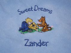 Baby Blanket Shabby Chic Personalized Winnie the Pooh and Friends Classic FREE SHIPPING in USA