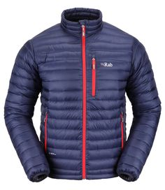 Rab Men's Microlight Jacket - Twilight -The new Rab Microlight down jacket uses groundbreaking hydrophobic down insulation to offer wet weather performance. Winter Hiking, Winter Gear, Outdoor Outfit, Outdoor Gear, Hiking Jacket, Hiking Essentials, At Home Gym, Jackets Online, Motorcycle Jacket