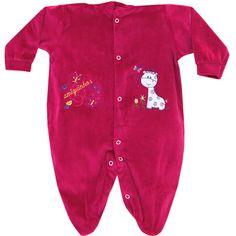 Macacão em Plush para Bebê Menina Sortido Com Capuz - Pequenos Passos :: 764 Kids | Roupa bebê e infantil