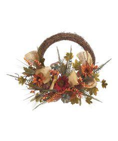 Look what I found on #zulily! Burlap Sunflower Wreath #zulilyfinds