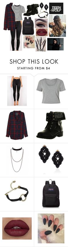 """""""Teen Wolf"""" by queenxvanessa ❤ liked on Polyvore featuring Miss Selfridge, Rails, Refresh, Anna e Alex and JanSport"""