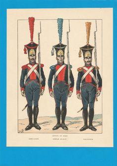 France -Planche de JOB - Légion du Nord.Grenadier.Soldat.Voltigeur. in Collections, Militaria, Documents, revues, livres, Des origines à 1913 | eBay
