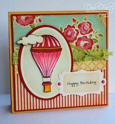 "Designed by Deb Felts using Debbie Corbari's ""Love in the Air.""  Happy birthday Debbie!  <3"