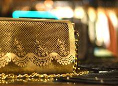 Design by Genoveva Christoff Laser cut embellished leather purse