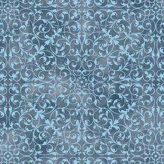 """""""Ramalhetes"""" dupla faixa com raminhos geométricos - azul (estampa digital)"""