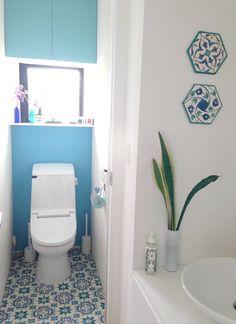 モロッコタイル柄の床材でお手軽DIY!超簡単モロカンスタイル | BG ... こちら気に入ったので、今度は、写真右側、トイレ横の洗面所の壁にも使いたいなぁと検討中。