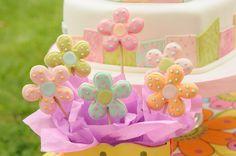 Torta de Corazon y mini Tortas con imitacion Patchwork