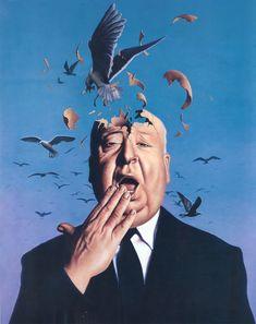 """The birds"", Jim Warren/ Alfred Hitchcock The Birds Movie, Jim Warren, Alfred Hitchcock The Birds, Max Ernst, Portraits, Salvador Dali, Actors, Long Beach, I Movie"