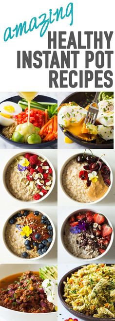 Your favorite healthy Instant Pot Recipes all in one spot. Breakfast, lunch, dinner...the only thing I still need to work on is dessert to add to the list. via @greenhealthycoo