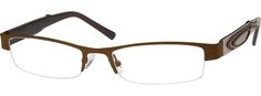 7528 Stainless Steel Half-Rim Frame with Acetate Temples