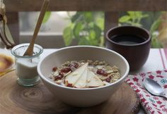 Spiced Pear Quinoa Porridge  ---don't want the pear or the fig (blech) but pumpkin and apple might be nice. :-)