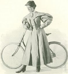1890s Bicycling for Women. Bloomer clothing demands a more or less radical change in costume. Mod­erate women met the demand with gaiters and a three-quarter skirt — one reaching perhaps to the ankles, but even this compromise leaves much to be desired in the way of freedom, and there is some danger of entangling the skirt. Numbers of women who ride a great deal adopted the short skirt costume and the bloomer or Knickerbocker costume.