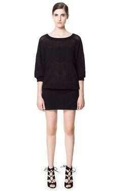 Image 1 of OPEN WORK DRESS from Zara