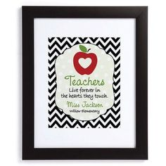 Personalized Teachers Are Special 11 inch x 14 inch Framed Print, White