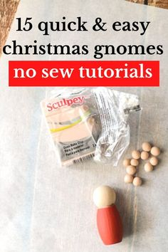 Who doesnt love Christmas gnomes? These 15 easy no sew patterns are quick and cheap to make. Decorate your fireplace mantel with cute gnomes, or make some for your front porch. Here you'll find ideas how to make gnomes from dollar store items and repurposed socks and glass bottles. Christmas Gnome, Christmas Tree Ornaments, Christmas Crafts, Christmas Decorations, Mason Jar Lids, Fireplace Mantel, Dollar Store Crafts, Diy For Girls, Simple Christmas