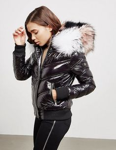 Froccella Multi Fur Bomber Jacket - available at Tessuti, the luxury designer retailer for Men, Women and Children. Fur Bomber, Bomber Jacket Men, Fur Jacket, Fur Coat, Coats For Women, Jackets For Women, Clothes For Women, Down Puffer Coat, Puffer Coats
