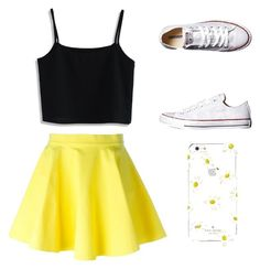 """""""Summer day"""" by aubriray ❤ liked on Polyvore featuring Jeremy Scott, Chicwish, Converse and Kate Spade"""