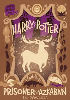 Harry Potter and the Prisoner of Azkaban by Joel & Ashley Illustration - Only first five completed at this time Harry Potter Fan Art, Harry Potter Book Covers, Harry Potter Games, Hogwarts, Capas Kindle, Best Book Covers, Prisoner Of Azkaban, Harry Potter Wallpaper, Movie Poster Art