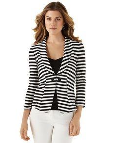 Striped knit blazer- summer weight