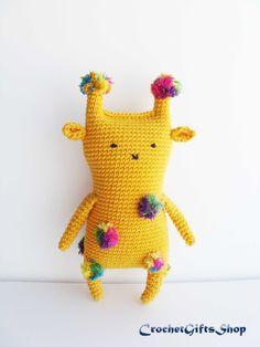 Giraffe spotted colored yellow Crochet pattern Amigurumi Toys