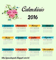 Novos Calendários 2016