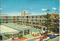 Vintage 1960s SEA Breeze Hotel Postcard | Surfers Paradise Queensland