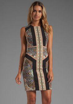 BCBGMAXAZRIA Lauren Sleeveless Printed Dress