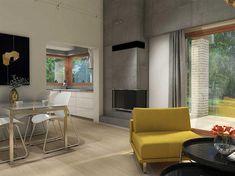 Projekt domu Maja II 108,43 m2 - koszt budowy 187 tys. zł - EXTRADOM House Roof Design, Modern Bungalow House, House Floor Plans, My House, New Homes, Layout, Flooring, Architecture, Table