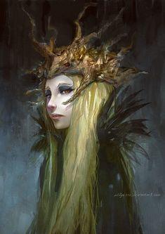 Priesterin des Waldgottes