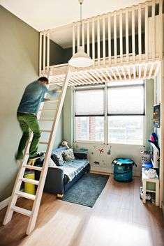 """Exceptional """"modern bunk beds for boys room"""" detail is offered on our internet site. Have a look and you wont be sorry you did. Bunk Beds For Boys Room, Bunk Bed Rooms, Beds For Small Rooms, Bunk Beds With Stairs, Kid Beds, Attic Bedrooms, Small Room Decor, Room Decor Bedroom, Kids Bedroom"""