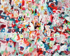 Red City - large art red print of original painting colorful large print big print cityscape art abstract landscape