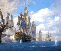 """""""  Cape St Vincent, 1797 -Geoff Hunt """""""