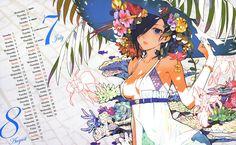 Nice anime calendar from Tokyo Ghoul uploaded by faerchild - 2015 Special illustration calendar - jul/aug Tokyo Ghoul Hd, Touka Wallpaper, 2015 Wallpaper, Character Illustration, Illustration Art, Anime Manga, Anime Art, Pretty Art, Anime Style